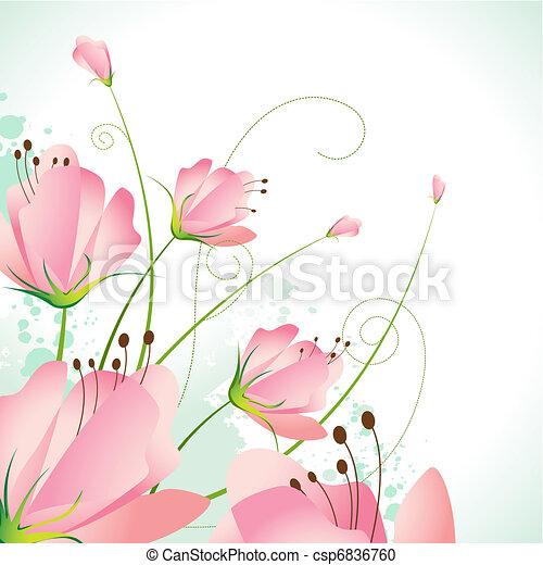 bonito, flor - csp6836760
