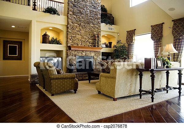 bonito, sala de estar - csp2076878