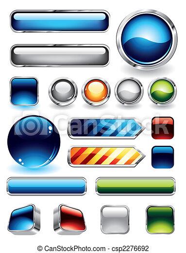 botões, lustroso, cobrança - csp2276692