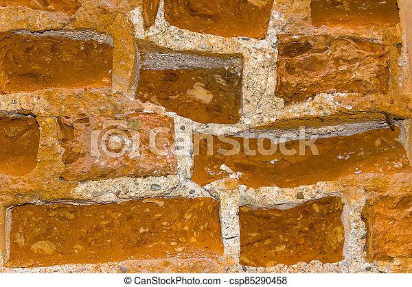 brickwork, antigas, fundo, fragmento - csp85290458