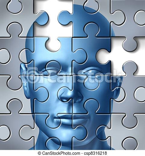 cérebro, médico, human, pesquisa - csp8316218