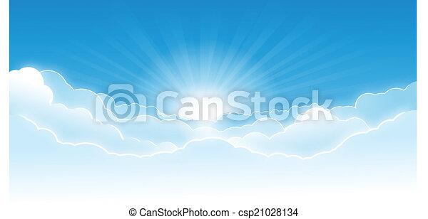 céu, nuvens - csp21028134