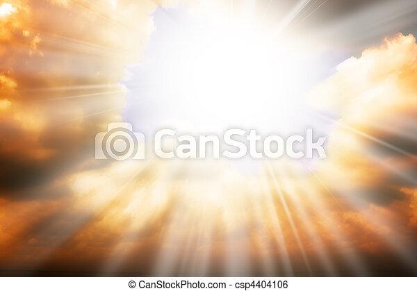 céu, sol, -, raios, religião, conceito, céu - csp4404106