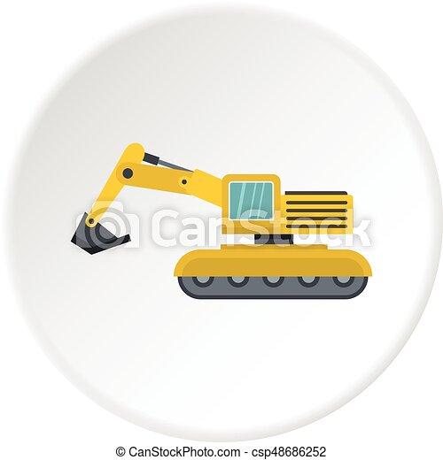 círculo, escavador, ícone - csp48686252