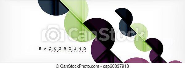 círculo, fundo, abstratos, ilustração, geomã©´ricas - csp60337913