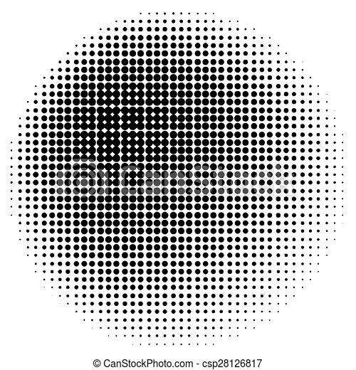 círculo, halftone - csp28126817