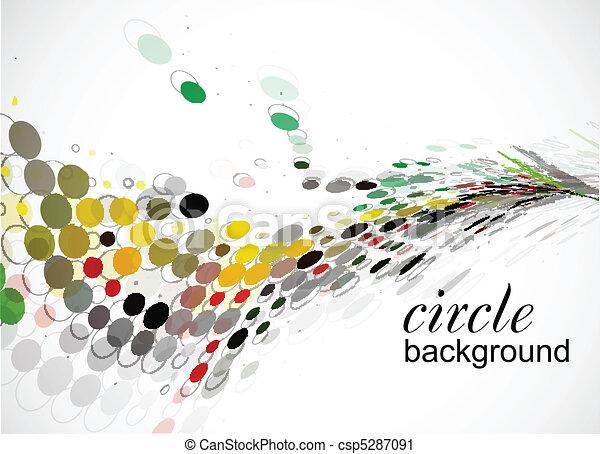 círculo, halftone - csp5287091