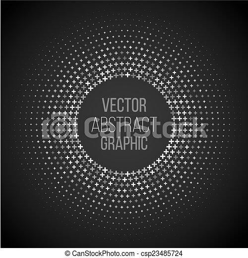 círculo, halftone - csp23485724