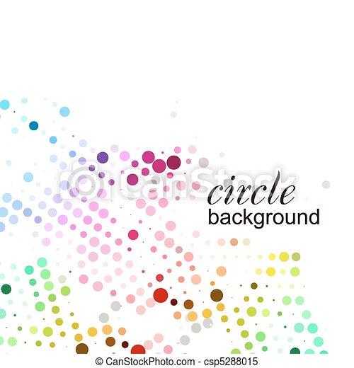 círculo, halftone - csp5288015