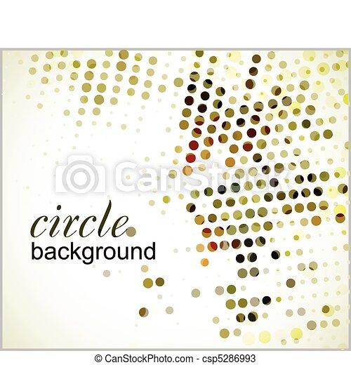 círculo, halftone - csp5286993