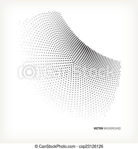 círculo, vetorial, halftone - csp23126126