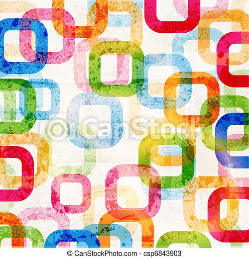 círculos, gráfico, padrão, projeto abstrato, fundo, alta tecnologia - csp6843903