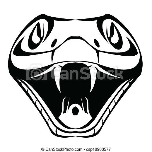 cabeça, cobra - csp10908577