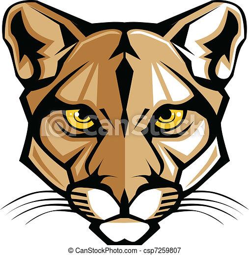 cabeça, g, pantera, puma, vetorial, mascote - csp7259807