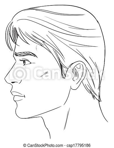 cabeça, macho - csp17795186