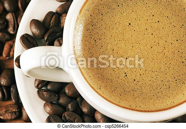 café, close-up, copo - csp5266454