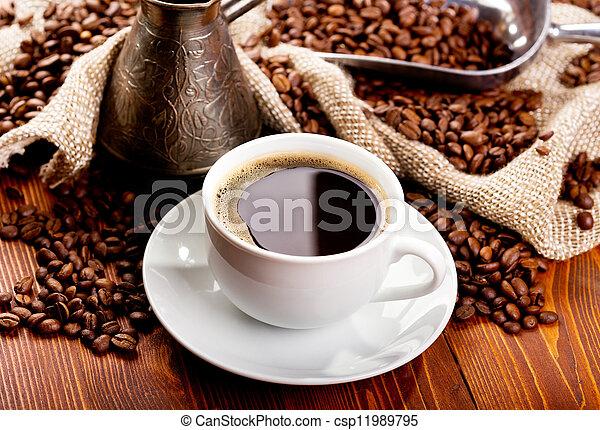 café, pretas, copo - csp11989795