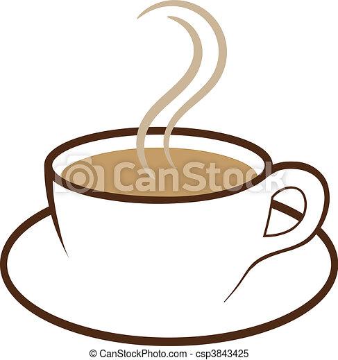 café, vetorial, copo - csp3843425