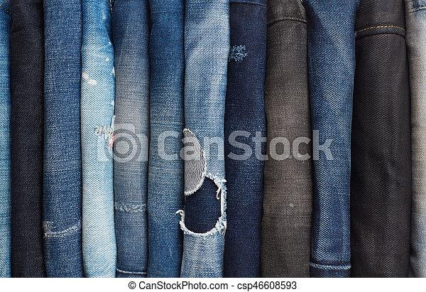 calças brim, fundo - csp46608593