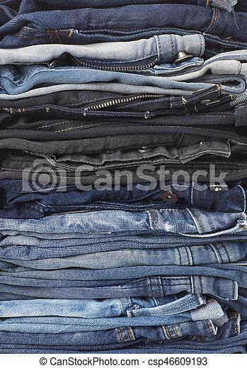 calças brim, fundo - csp46609193