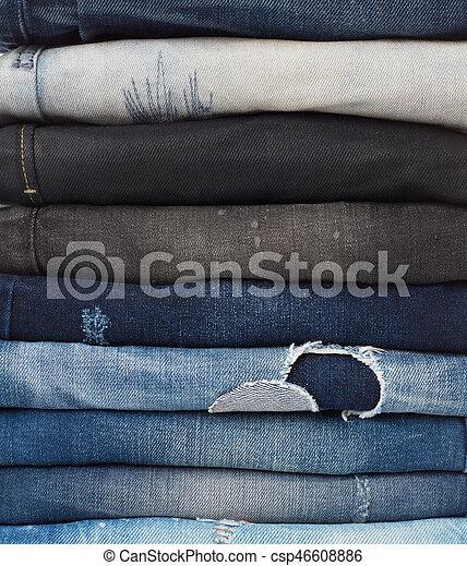 calças brim, fundo - csp46608886