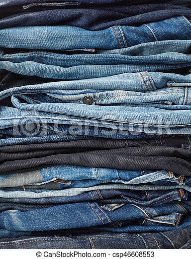calças brim, pilha, fundo - csp46608553