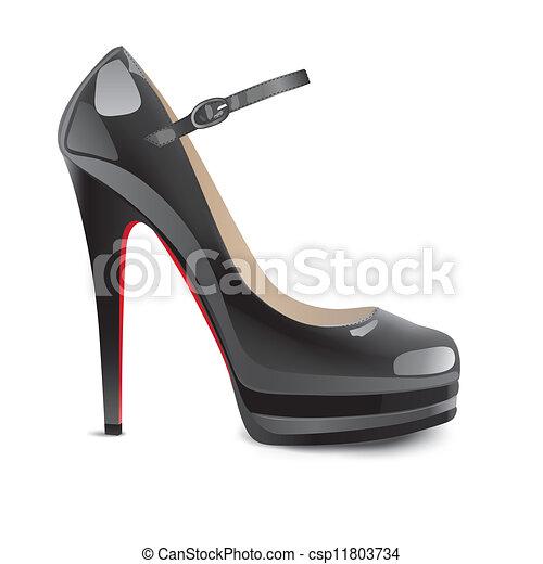 calcanhares altos, pretas, sapatos - csp11803734