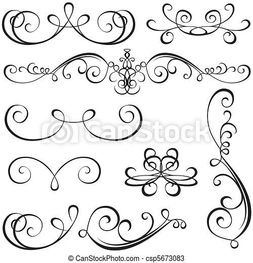 calligraphic, elementos - csp5673083