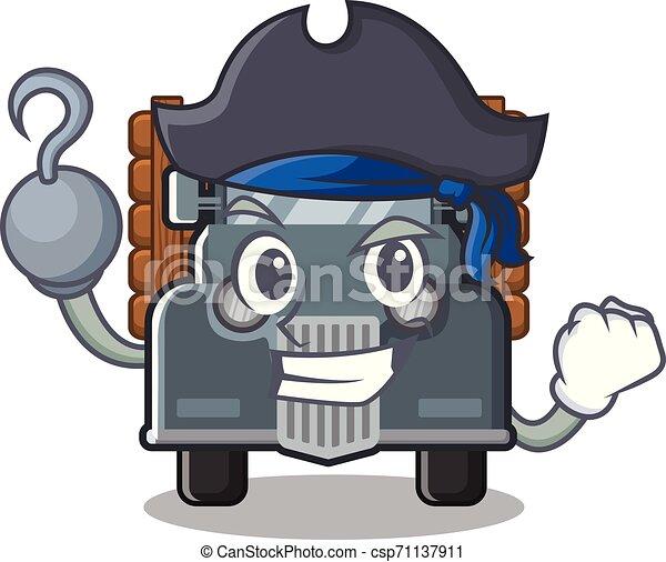 caminhão, antigas, isolado, pirata, caricatura - csp71137911