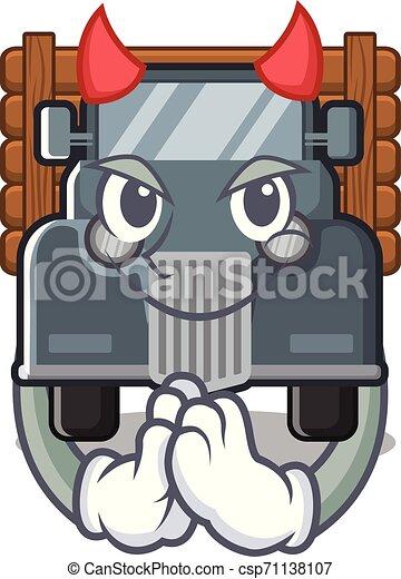 caminhão, forma, diabo, antigas, mascote - csp71138107