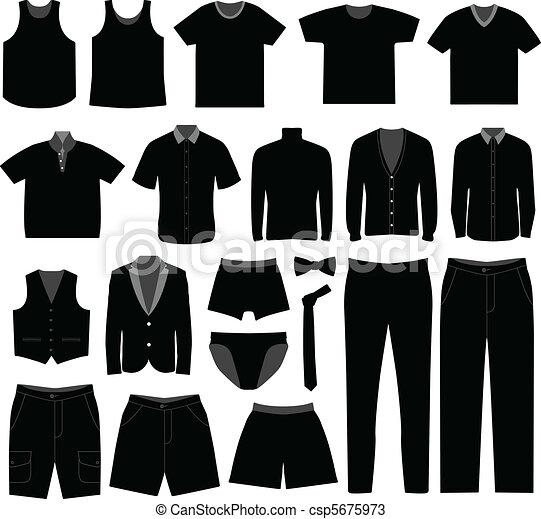 camisa, homens, pano, desgaste, macho, homem - csp5675973
