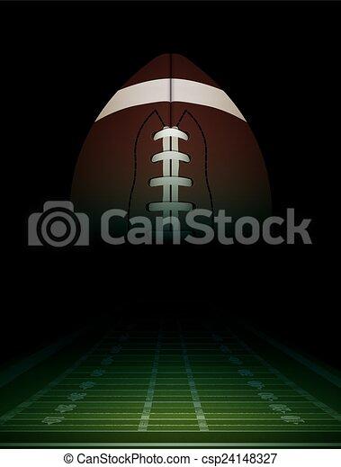 campo, americano, bola, ilustração, futebol - csp24148327
