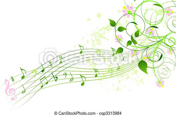 canção, primavera, fundo - csp3313984