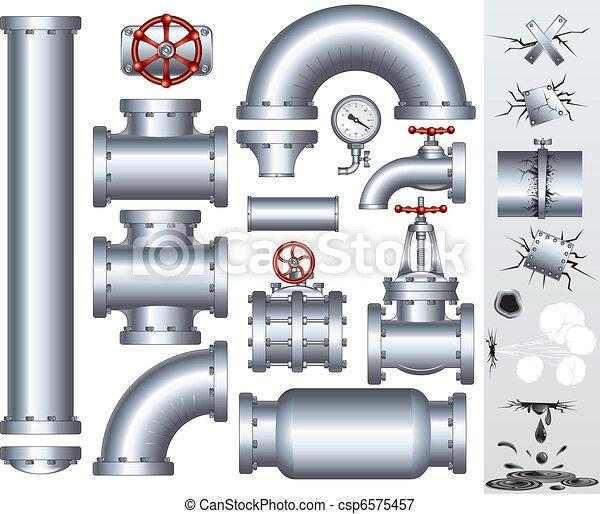 canalização, industrial - csp6575457
