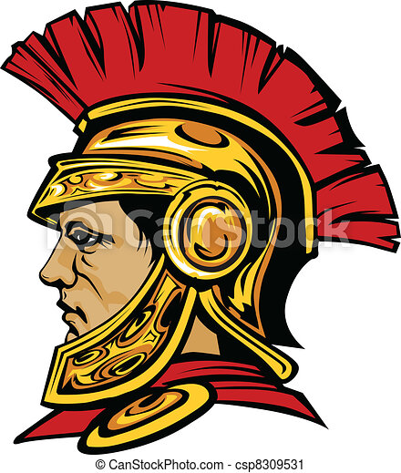 capacete, trojan, spartan, mascote - csp8309531