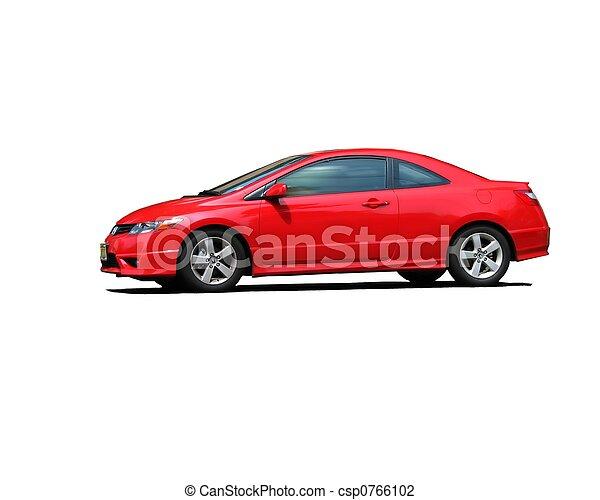 car, isolado, vermelho, esportes - csp0766102