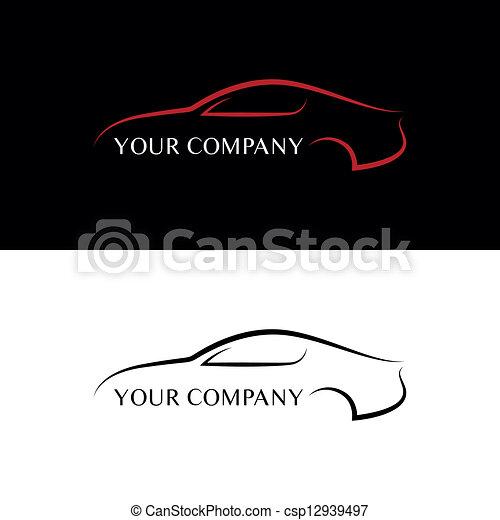 car, preto vermelho, logotipos - csp12939497