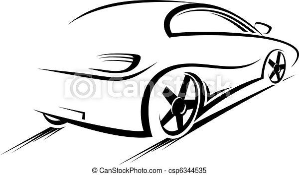 car, silueta - csp6344535