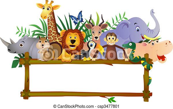caricatura, animal - csp3477801