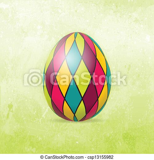cartão, ovo, páscoa, coloridos - csp13155982