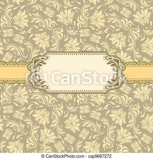 cartão, quadro, desenho, saudação, modelo - csp9667272