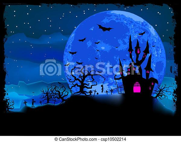 cartaz, dia das bruxas, eps, zombie, experiência., 8 - csp10502214