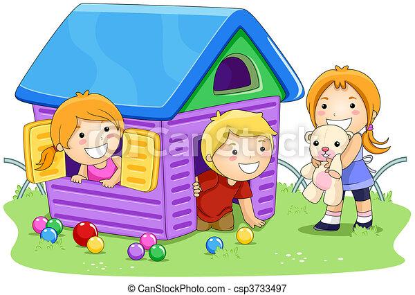 casa, tocando - csp3733497