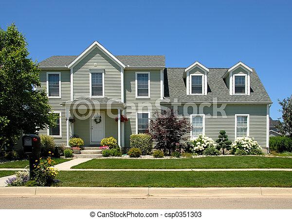casa, verão - csp0351303