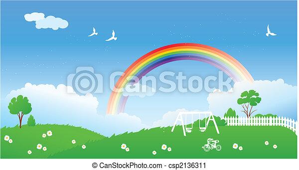 cena mola, arco íris - csp2136311