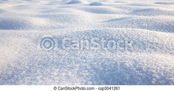 cena, textura, inverno, fundo, neve - csp3041261