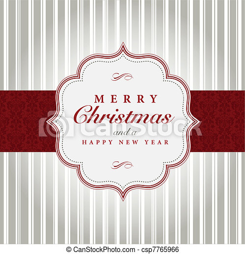 cinzento, vetorial, natal, vermelho, etiqueta - csp7765966