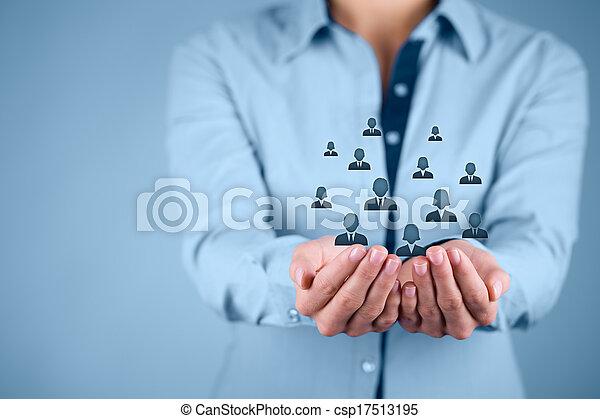 cliente, empregados, conceito, ou, cuidado - csp17513195