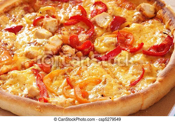 close-up, pizza - csp5279549