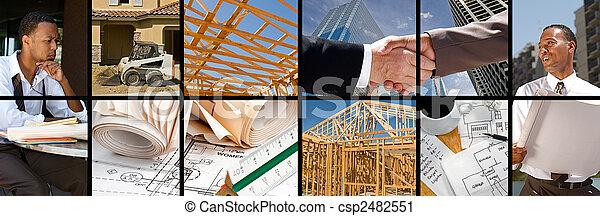 colagem, construção - csp2482551
